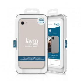 COQUE PREMIUM SILICONE ET MICROFIBRE POUR APPLE IPHONE 7 / 8 / SE 2020 BEIGE - JAYM® CLASSIC®