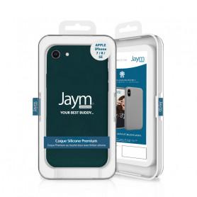 COQUE PREMIUM SILICONE ET MICROFIBRE POUR APPLE IPHONE 7 / 8 / SE 2020 VERT FONCÉ - JAYM® CLASSIC®