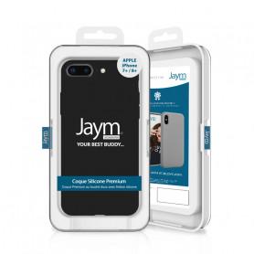 COQUE PREMIUM SILICONE ET MICROFIBRE POUR APPLE IPHONE 7+ / 8+ NOIRE - JAYM® CLASSIC®