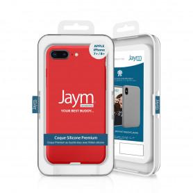 COQUE PREMIUM SILICONE ET MICROFIBRE POUR APPLE IPHONE 7+ / 8+ ROUGE - JAYM® CLASSIC®