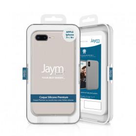 COQUE PREMIUM SILICONE ET MICROFIBRE POUR APPLE IPHONE 7+ / 8+ BEIGE - JAYM® CLASSIC®