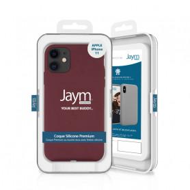COQUE PREMIUM SILICONE ET MICROFIBRE POUR APPLE IPHONE 11 VIOLET - JAYM® CLASSIC®