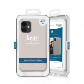 COQUE PREMIUM SILICONE ET MICROFIBRE POUR APPLE IPHONE 11 BEIGE - JAYM® CLASSIC®