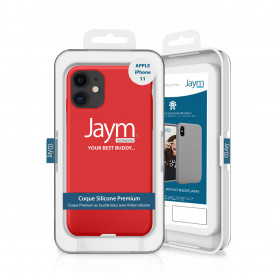 COQUE PREMIUM SILICONE ET MICROFIBRE POUR APPLE IPHONE 11 ROUGE - JAYM® CLASSIC®
