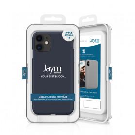 COQUE PREMIUM SILICONE ET MICROFIBRE POUR APPLE IPHONE 11 BLEUE - JAYM® CLASSIC®