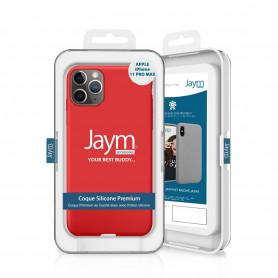COQUE PREMIUM SILICONE ET MICROFIBRE POUR APPLE IPHONE 11 PRO MAX ROUGE - JAYM® CLASSIC®