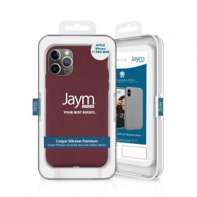 COQUE PREMIUM SILICONE ET MICROFIBRE POUR APPLE IPHONE 11 PRO MAX VIOLET - JAYM® CLASSIC®