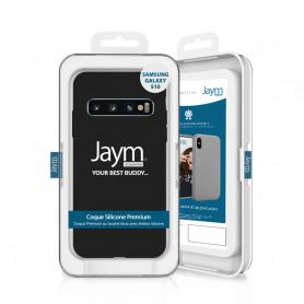 COQUE PREMIUM SILICONE ET MICROFIBRE POUR SAMSUNG S10 NOIRE - JAYM® CLASSIC®