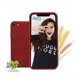 COQUE ECO-FRIENDLY ROUGE POUR APPLE IPHONE 6 / 6S / 7 / 8 / SE 2020 - JAYM®
