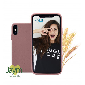 COQUE ECO-FRIENDLY ROSE POUR APPLE IPHONE X / XS - JAYM®