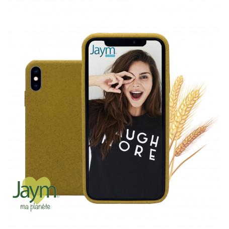 COQUE ECO-FRIENDLY JAUNE  POUR APPLE IPHONE X / XS - JAYM®