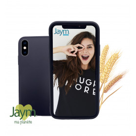 COQUE ECO-FRIENDLY NOIRE POUR APPLE IPHONE X / XS - JAYM®
