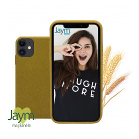 COQUE ECO-FRIENDLY JAUNE POUR APPLE IPHONE 11 - JAYM®