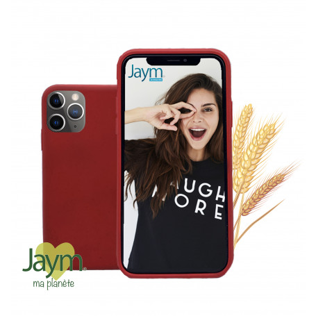 COQUE ECO-FRIENDLY ROUGE POUR APPLE IPHONE 11 PRO - JAYM®