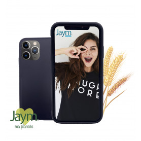 COQUE ECO-FRIENDLY NOIRE POUR APPLE IPHONE 11 PRO MAX - JAYM®
