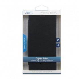 ETUI CRYSTAL FOLIO NOIR JAYM COMPATIBLE SAMSUNG GALAXY NOTE 8