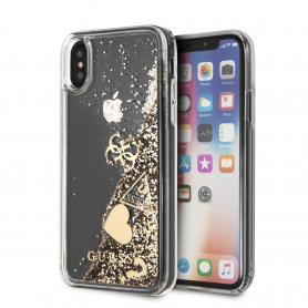 COQUE BI-MATIERE AVEC PAILLETTES FLOTTANTES GUESS COMPATIBLE APPLE IPHONE X / XS - GUESS®