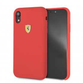 COQUE SILICONE ROUGE COMPATIBLE APPLE IPHONE XR - FERRARI®
