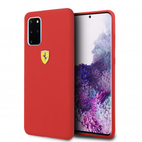 COQUE SILICONE ROUGE COMPATIBLE SAMSUNG GALAXY S20 PLUS - FERRARI®