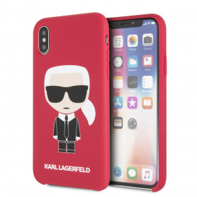 COQUE SILICONE ROUGE MOTIF AVATAR KARL LAGERFELD POUR APPLE IPHONE X / XS - KARL®