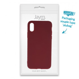 COQUE SOUPLE ROUGE MATE COMPATIBLE SAMSUNG GALAXY A21