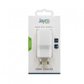 CHARGEUR SECTEUR 2 USB 2,4A BLANC JAYM**
