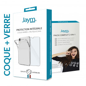 PACK INTEGRAL COQUE SOUPLE + VERRE TREMPE 9H 2.5D POUR APPLE IPHONE 7+ / 8+ - JAYM®