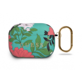 ETUI SILICONE POWER FLOWER MENTHE POUR APPLE AIRPODS PRO - GUESS®