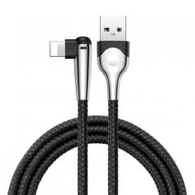 CABLE TRESSÉ USB VERS LIGHTNING COUDÉ NOIR 2M - BASEUS