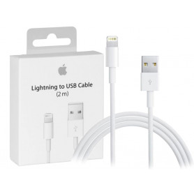 CABLE CHARGE ET SYNCHRO USB VERS LIGHTNING 2M ORIGINE APPLE
