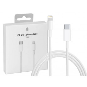 CABLE CHARGE RAPIDE ET SYNCHRO USB-C VERS LIGHTNING 1M ORIGINE APPLE
