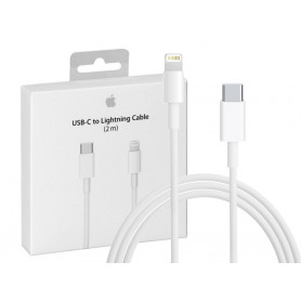 CABLE CHARGE RAPIDE ET SYNCHRO USB-C VERS LIGHTNING 2M ORIGINE APPLE