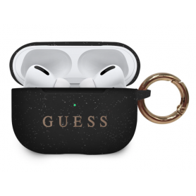 ETUI SILICONE NOIRE GUESS POUR APPLE AIRPODS PRO - GUESS®