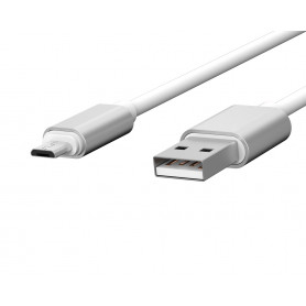 CABLE USB CHARGE & SYNCHRO VERS MICRO-USB 1,7M BLANC - JAYM® COLLECTION POP