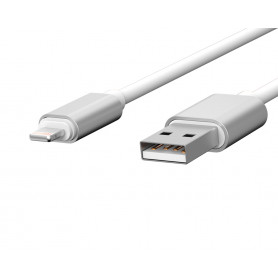 CABLE USB CHARGE & SYNCHRO VERS LIGHTNING 1,7M BLANC - JAYM® COLLECTION POP