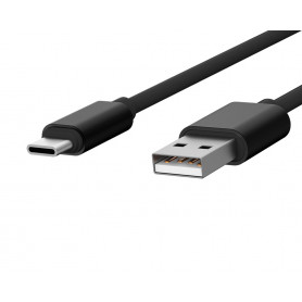 CABLE USB CHARGE & SYNCHRO VERS TYPE-C 1,7M NOIR - JAYM® COLLECTION POP