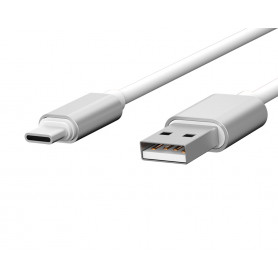 CABLE USB CHARGE & SYNCHRO VERS TYPE-C 1,7M BLANC - JAYM® COLLECTION POP