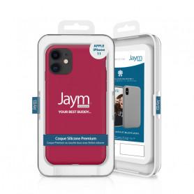 COQUE PREMIUM SILICONE ET MICROFIBRE POUR APPLE IPHONE 11 ROSE FUSHIA - JAYM® CLASSIC®
