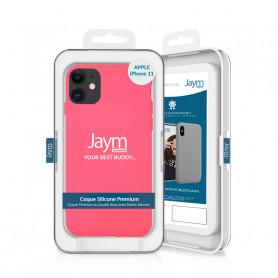COQUE PREMIUM SILICONE ET MICROFIBRE POUR APPLE IPHONE 11 ROSE FLUO - JAYM® CLASSIC®