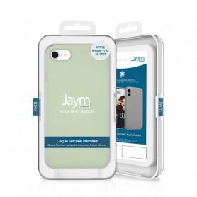 COQUE PREMIUM SILICONE ET MICROFIBRE POUR APPLE IPHONE 7 / 8 / SE 2020 VERT PASTEL - JAYM® CLASSIC®