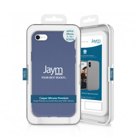 COQUE PREMIUM SILICONE ET MICROFIBRE POUR APPLE IPHONE 7 / 8 / SE 2020 VIOLET PASTEL - JAYM® CLASSIC®