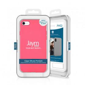 COQUE PREMIUM SILICONE ET MICROFIBRE POUR APPLE IPHONE 7 / 8 / SE 2020 ROSE FLUO - JAYM® CLASSIC®