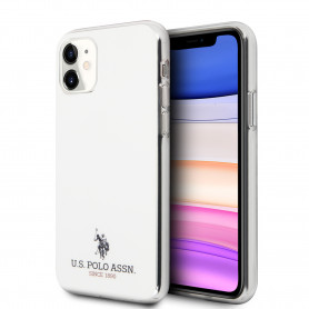 COQUE EN SILICONE BLANC ET MINI LOGO U.S POLO ASSN COMPATIBLE APPLE IPHONE 11 - U.S POLO ASSN®