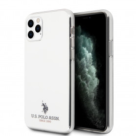 COQUE SILICONE BLANC ET MINI LOGO U.S POLO ASSN POUR APPLE IPHONE 11 PRO - U.S POLO ASSN®