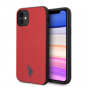 COQUE EN SILICONE ROUGE EFFET GRAINÉ ET MINI LOGO U.S POLO ASSN COMPATIBLE APPLE IPHONE 11 - U.S POLO ASSN®