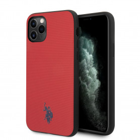 COQUE SILICONE ROUGE EFFET GRAINÉ ET MINI LOGO U.S POLO ASSN COMPATIBLE APPLE IPHONE 11 PRO - U.S POLO ASSN®