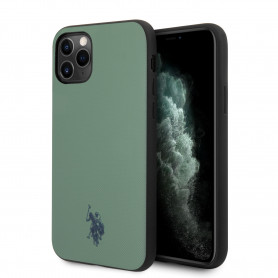 COQUE EN SILICONE VERT EFFET GRAINÉ ET MINI LOGO U.S POLO ASSN COMPATIBLE APPLE IPHONE 11 PRO - U.S POLO ASSN®