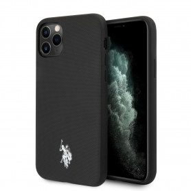 COQUE SILICONE NOIR EFFET GRAINÉ ET MINI LOGO U.S POLO ASSN COMPATIBLE APPLE IPHONE 11 PRO - U.S POLO ASSN®