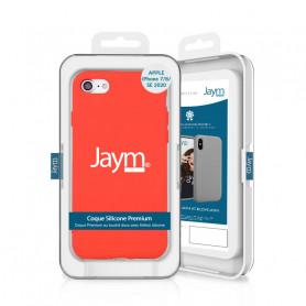 COQUE PREMIUM SILICONE ET MICROFIBRE POUR APPLE IPHONE 7 / 8 / SE 2020 ORANGE FLUO - JAYM® CLASSIC®