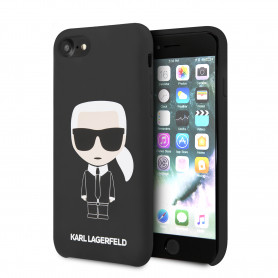 COQUE SILICONE NOIRE AVEC KARL AVATAR COMPATIBLE APPLE IPHONE 7 / 8 / SE 2020 - KARL®